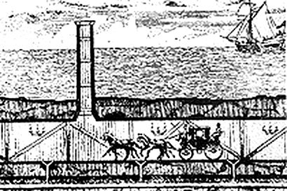 Эскиз тонеля под ЛА-Маншем Альберта Матье-Фавье