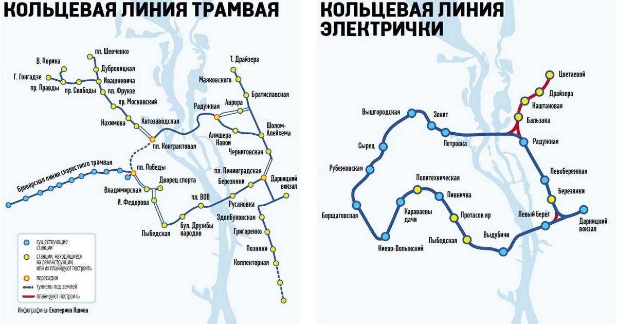 Схема движения трамвая и
