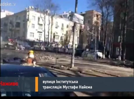 Столкновения на углу Шелковичной и Институтской