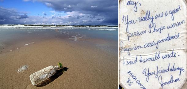 Романтическое послание, отправленное канадцем в 1985 году, нашли в Хорватии