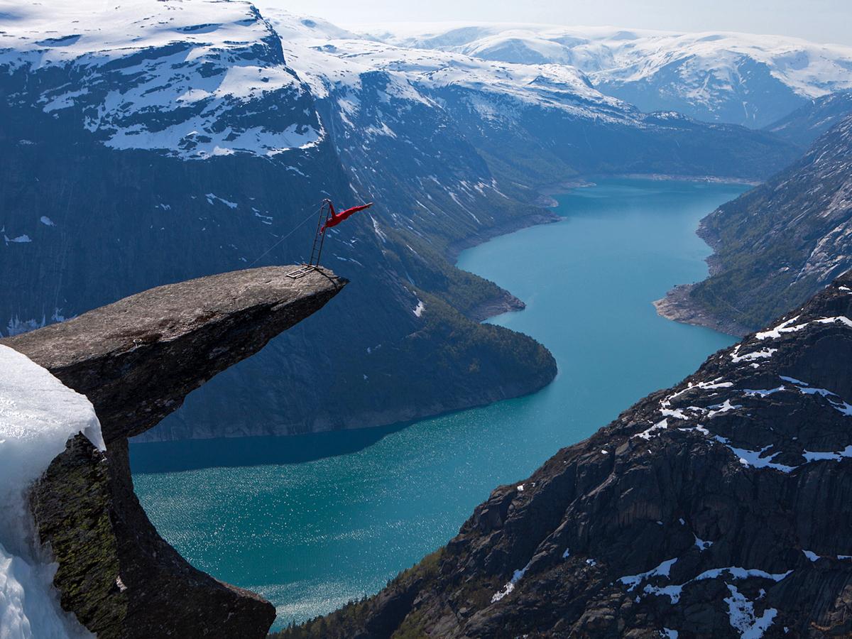 Язык Тролля, гора Скьеггедаль, Норвегия