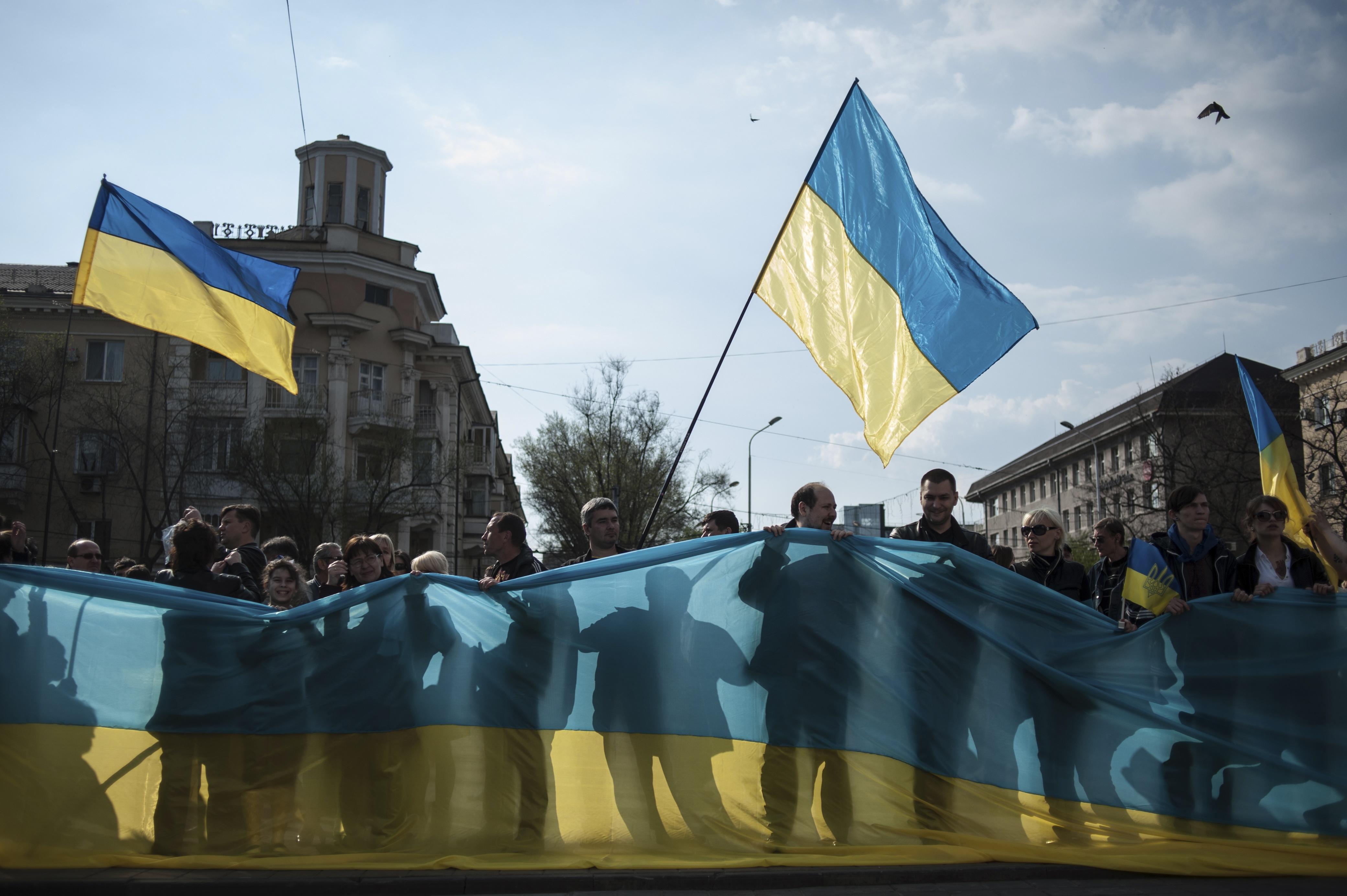 В Мариуполе до сих пор не боятся проводить проукраинские митинги