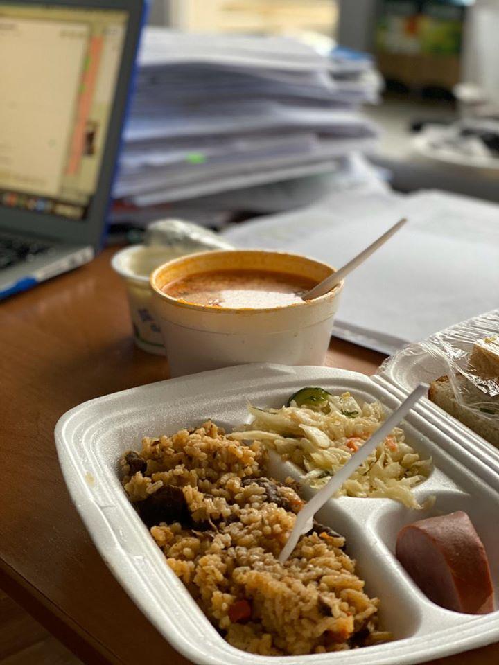Обед в Новых Санжарах