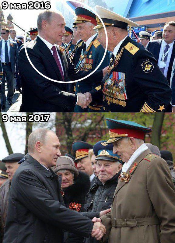Путин не раз встречался с ветераном, которого толкнули охранники