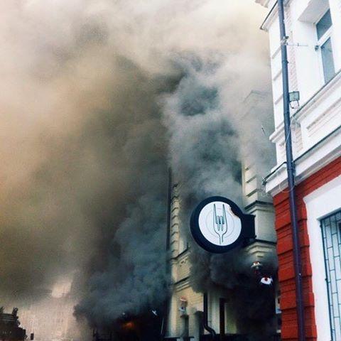 В Киеве горит ресторан GastroRock