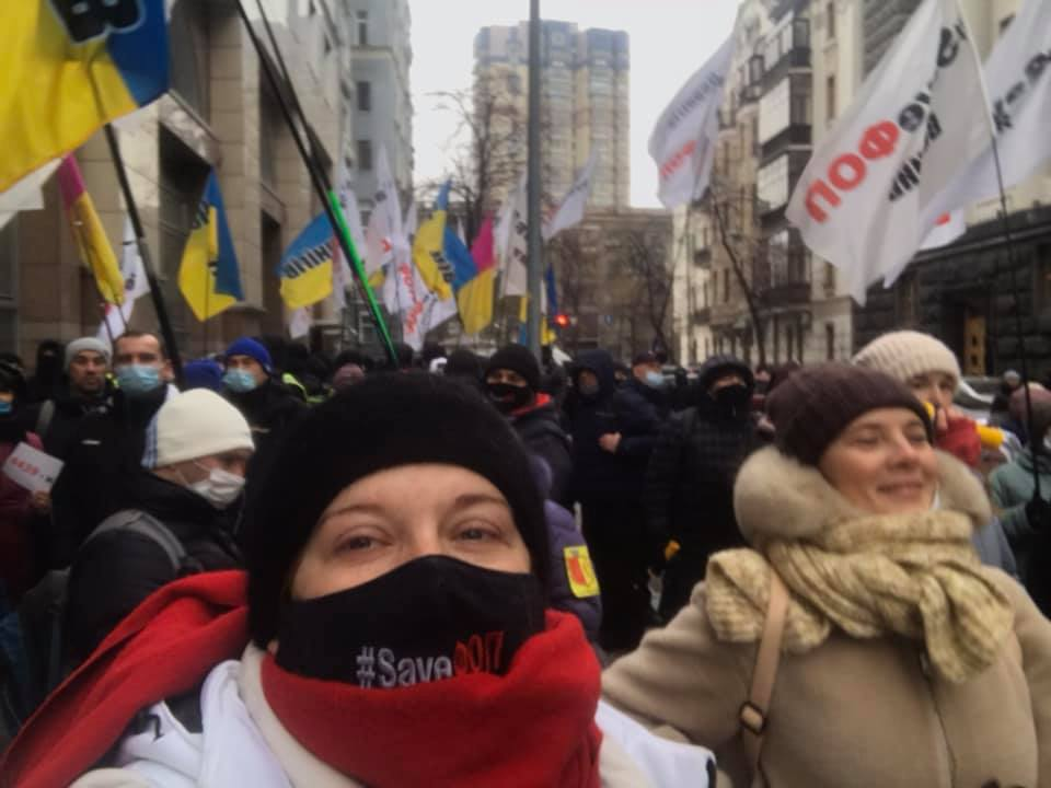 Шествие участников митинга