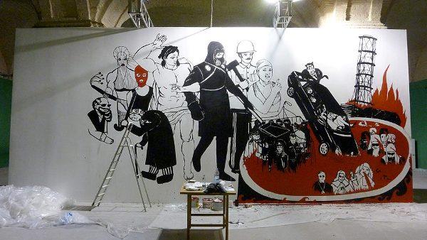Картина Колиивщина: Страшный суд Владимира Кузнецова была замазана черной краской