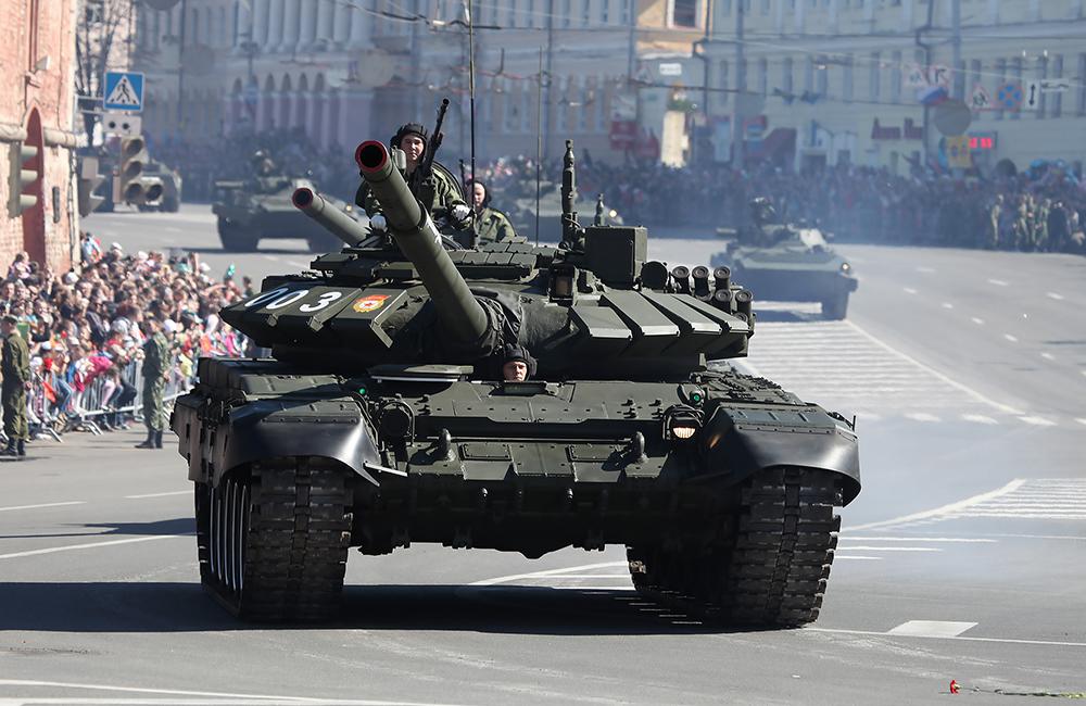 Танк Т-72Б3 находится на вооружении исключительно РФ. Фото: Vitaly V. Kuzmin