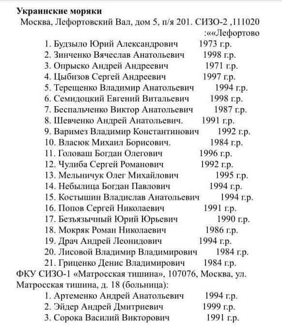 Белоцерковец выложил адрес для тех, кто решится перед Новым годом написать еще писем морякам