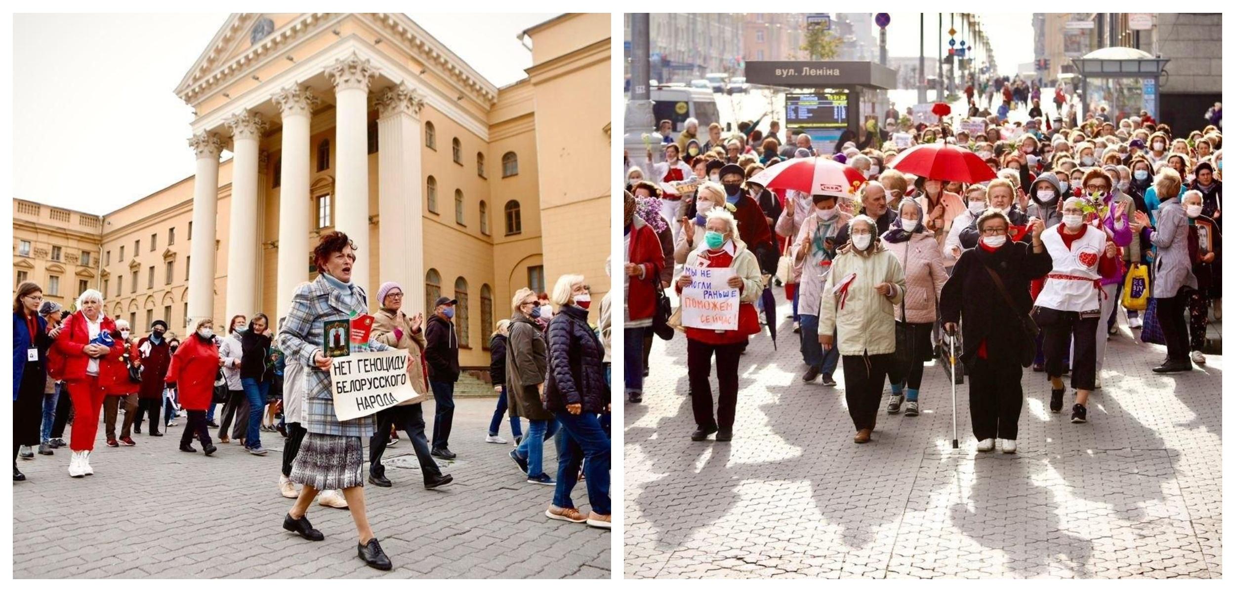 Пенсионеры двинулись маршем по Минску