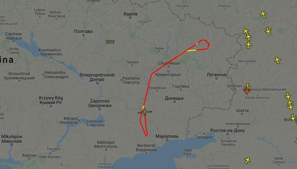 Беспилотник мониторит ситуацию на Донбассе с 9:00