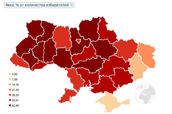 Явка на выборах президента Украины 2014