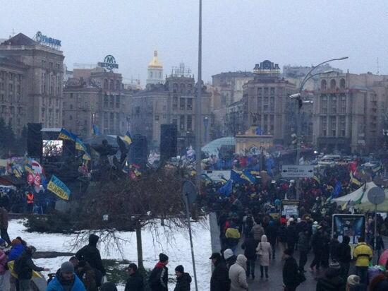 Майдан Независимости 21 января.