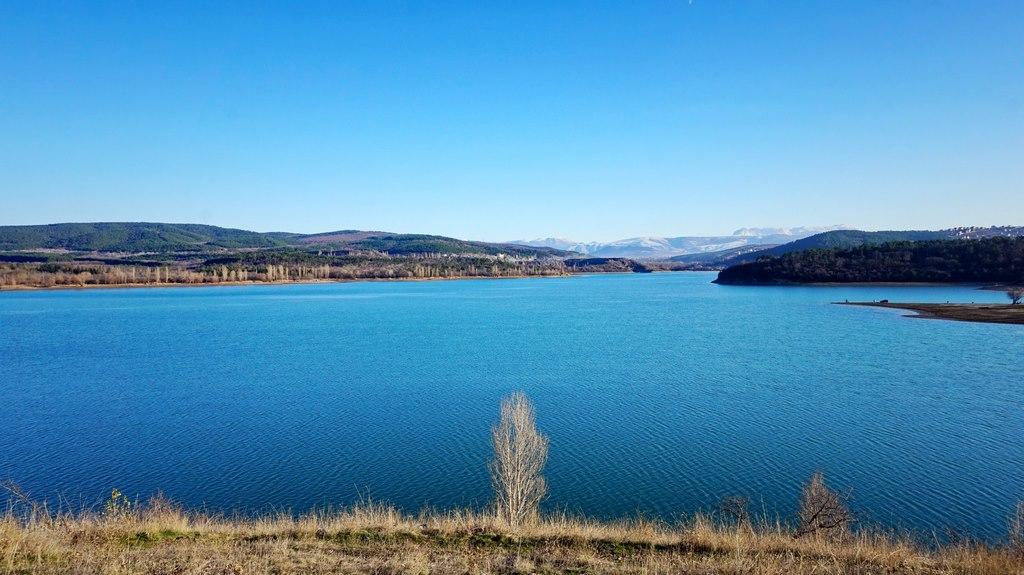 Симферопольское водохранилище до засухи