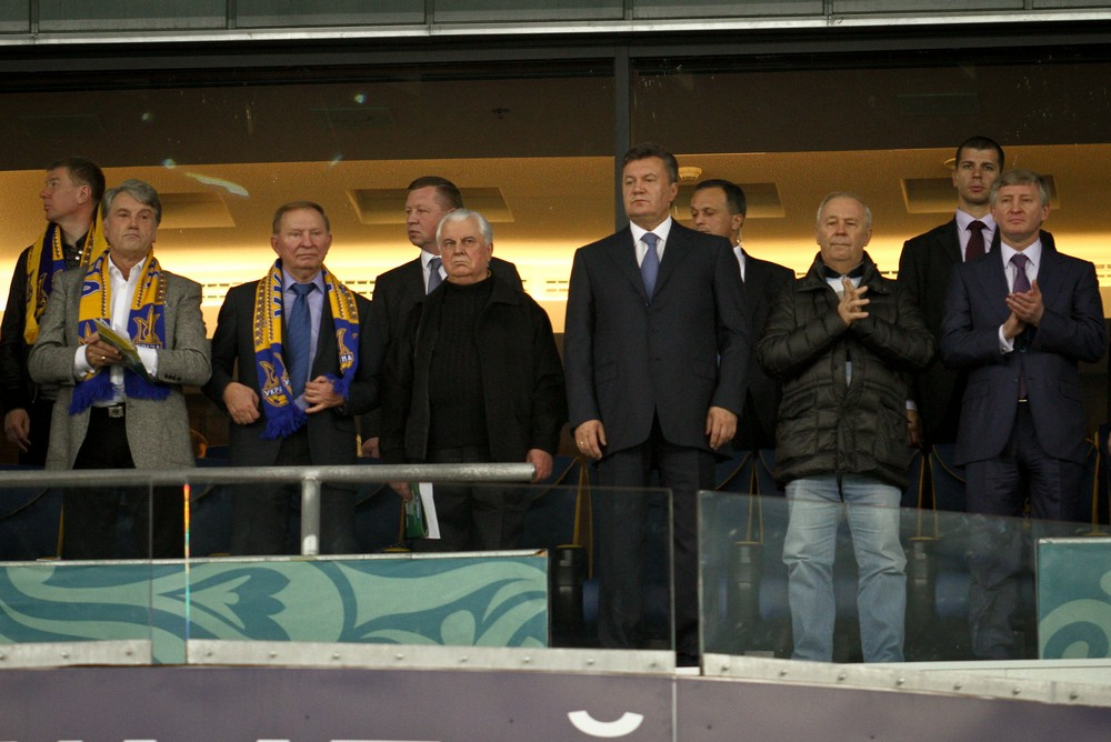 Четыре президента и приближенные люди - Владимир Рыбак и Ринат Ахметов