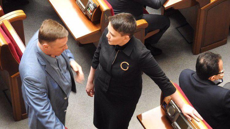 Надежда Савченко сегодня первый день в ВР