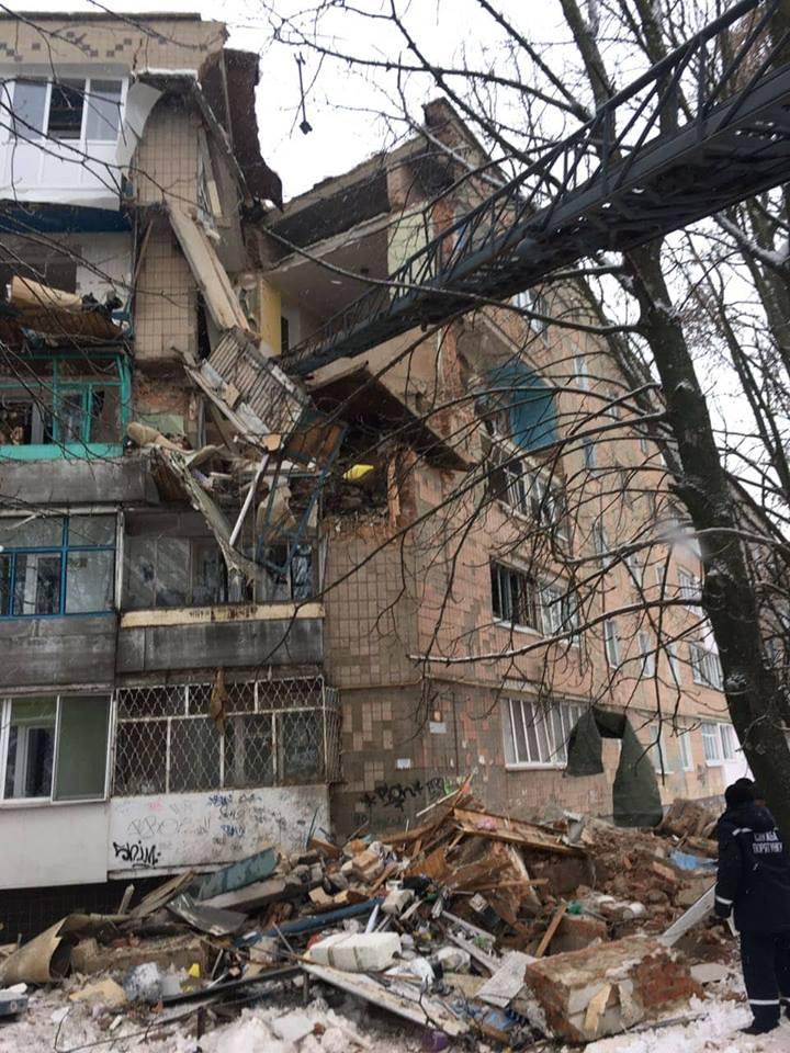 В Фастове обрушилась угловая часть пятиэтажки