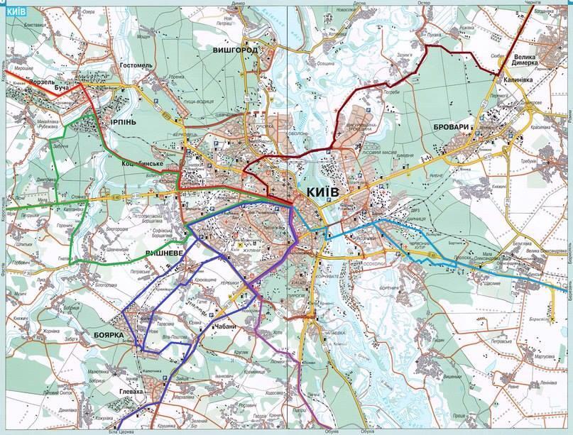 Перекрытый Киев. Карта объезда