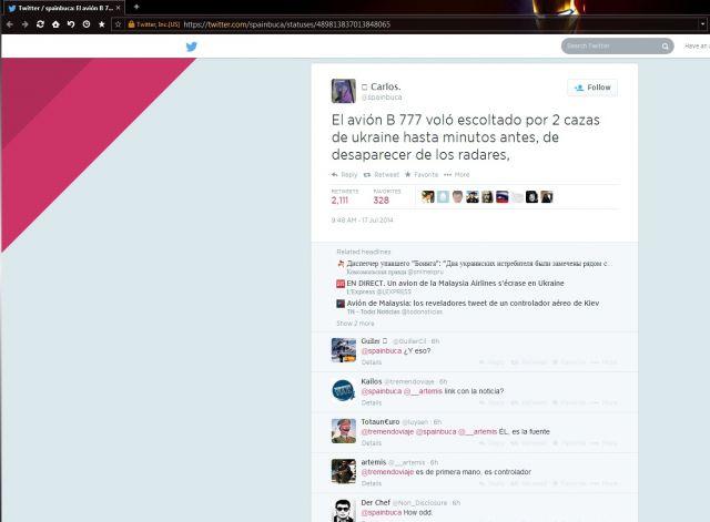 Скандальный твит о сбитом Боинге и самолетах ВСУ