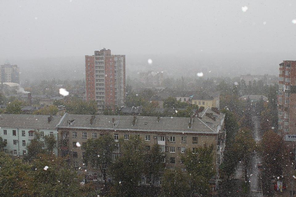 Снег в Донецке