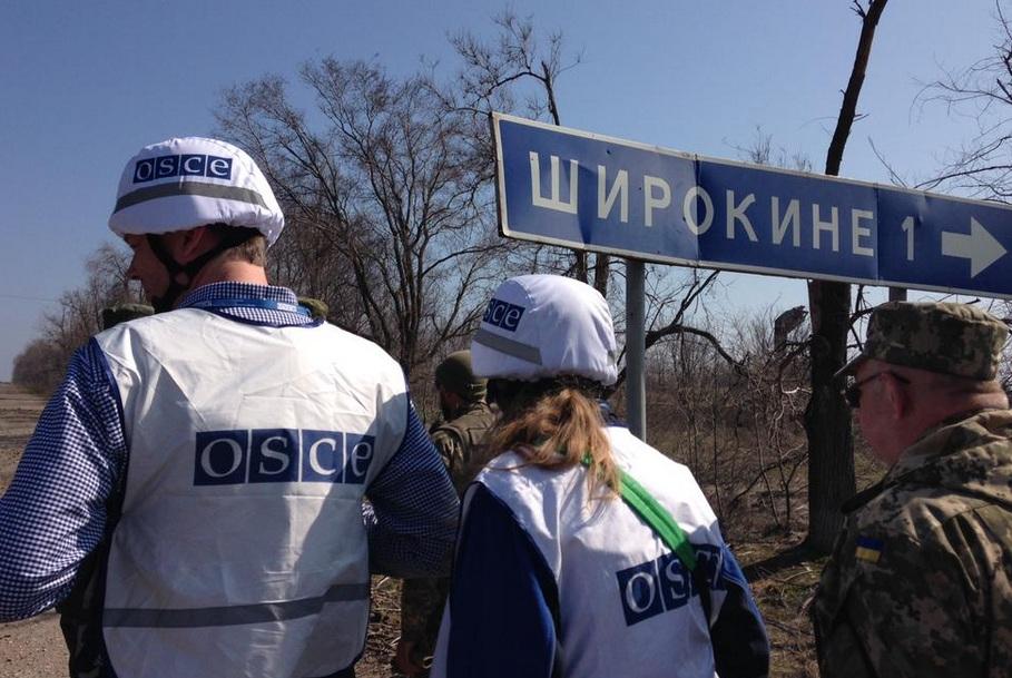Миссию ОБСЕ обстреляли под Широкино