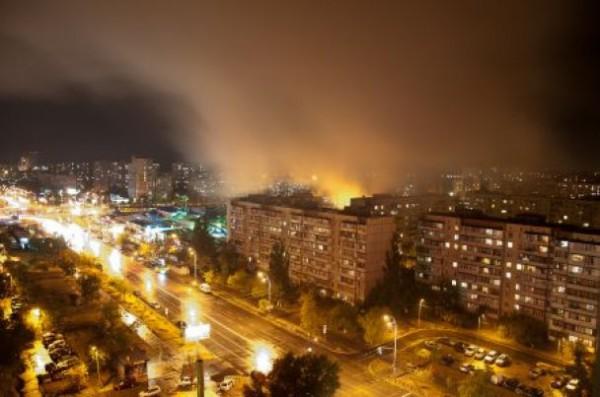 Пожар на рынке Оболонь