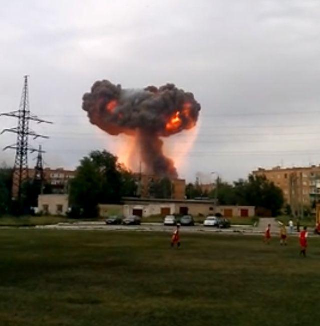 Взрыв на полигоне под Самарой