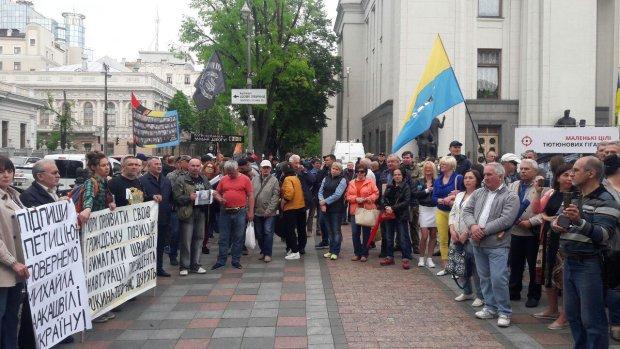 Демонстрантов возмущает поведение нардепов