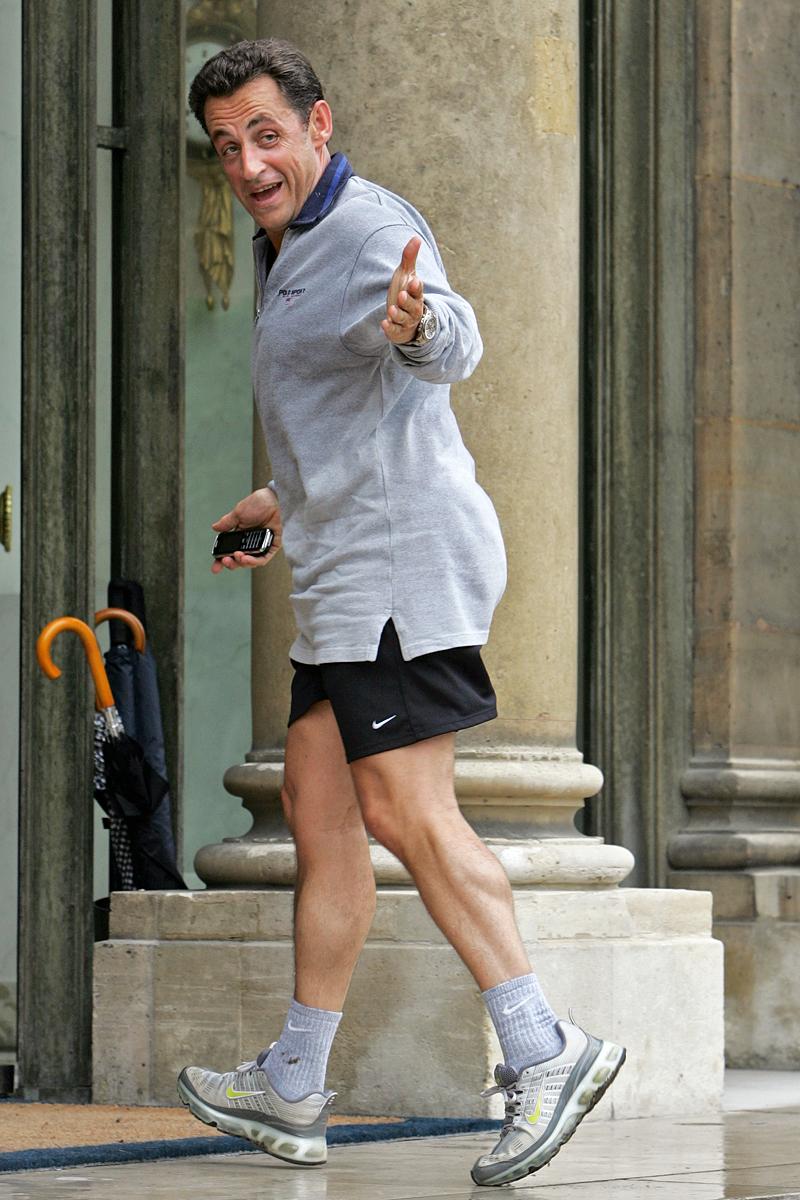 Николя Саркози бегает