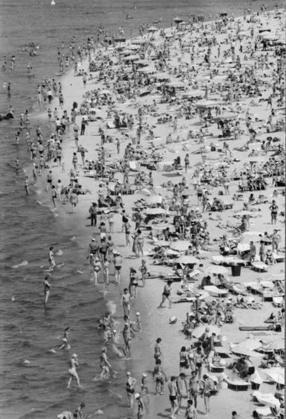1973. Центральный киевский пляж на Трухановом острове