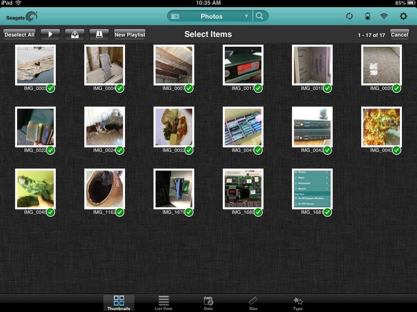 Seagate Cental - на iPad
