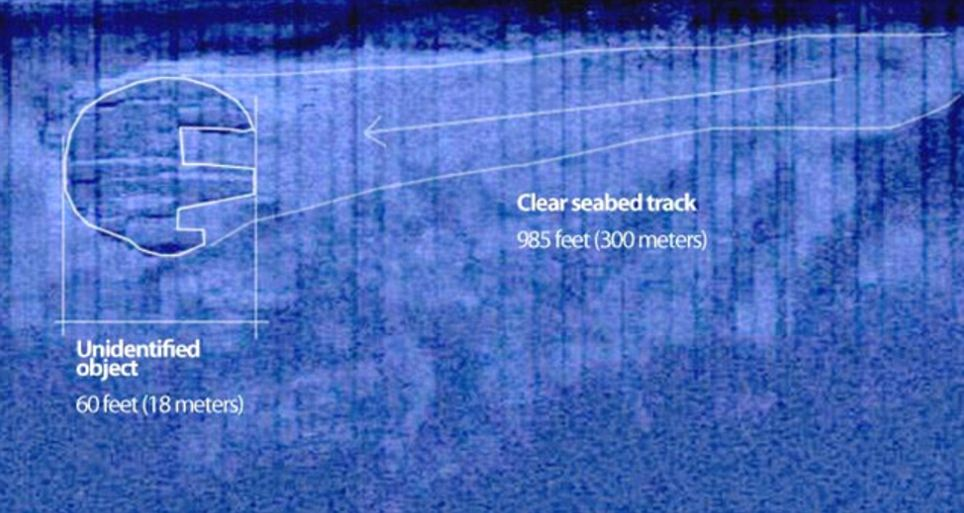 Возле объекта есть след длиной 300 метров