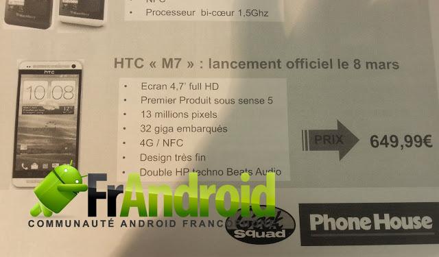 HTC One (M7) спецификация