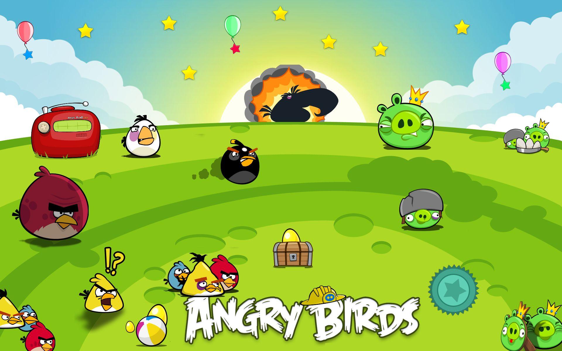 Angry Birds - видеоигра-головоломка, разработанная финской компанией Rovio Mobile