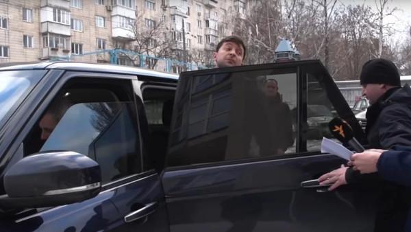 Range Rover Зеленского во время предвыборной кампании