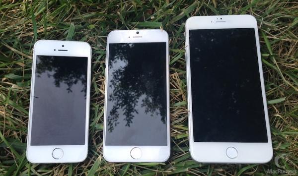 Сравнение  iPhone 5S c прототипами 4,7