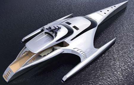 Новую суперяхту можно с легкостью перепутать с космическим кораблем