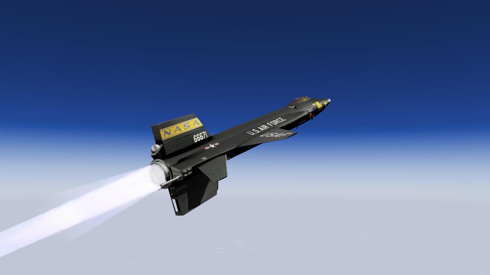 Х-15 - опытно-экспериментальный самолет, способный разгоняться до 7273 км/ч