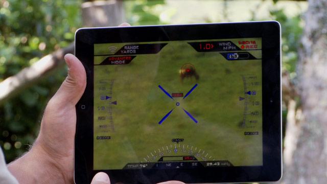 Управлять ружьем можно при помощи iPad и iPhone