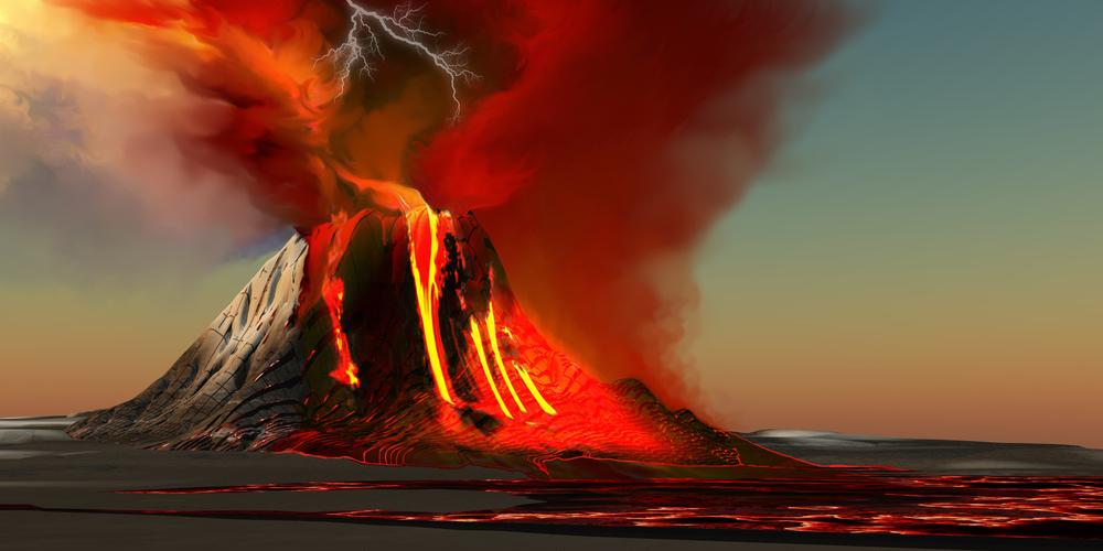 Извержение вулкана — тоже в ТОП вестников конца света