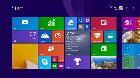 Скриншот Windows 8.1 Update