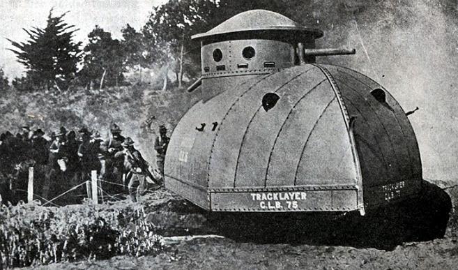 15-тонный Tracklayer мог похвастаться всего лишь одним пулеметом