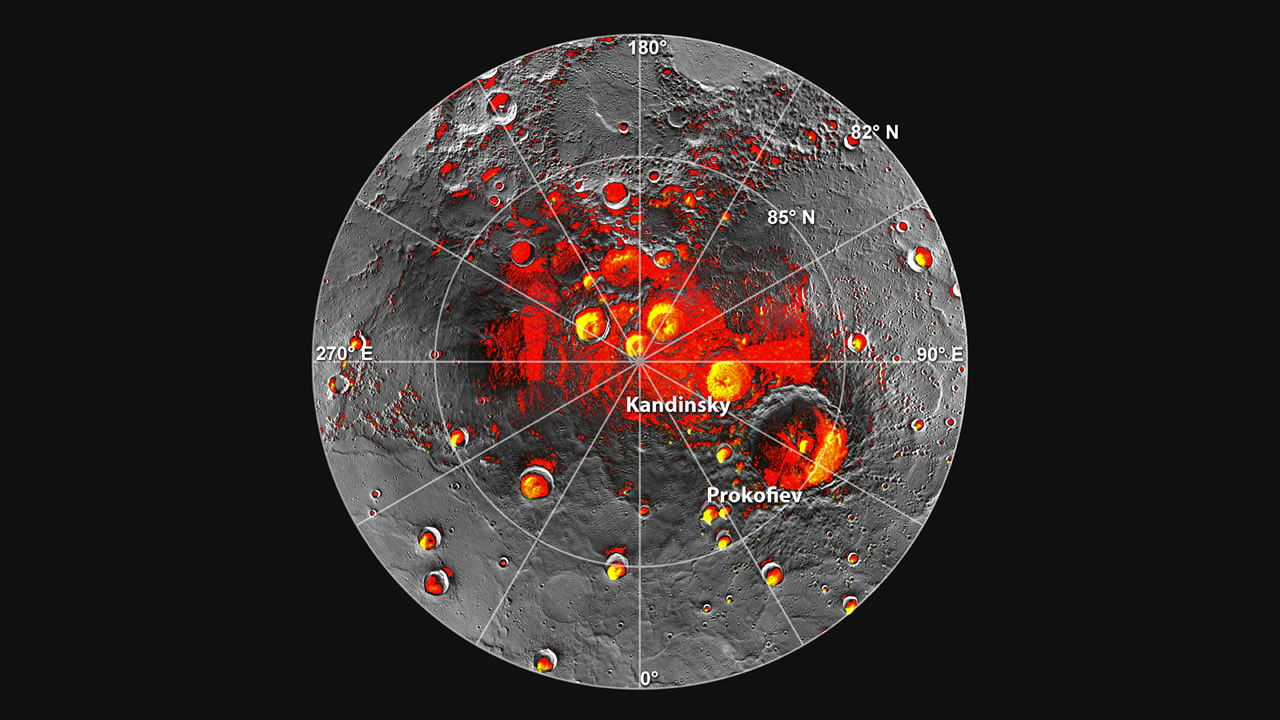 Залежи льда на Меркурии