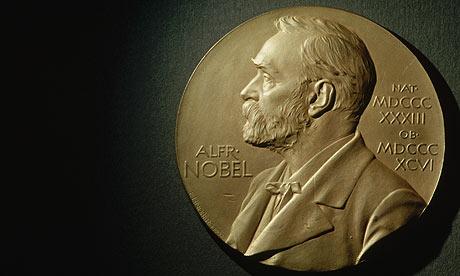 Медаль с изображением Нобеля, которую вручают премиантам