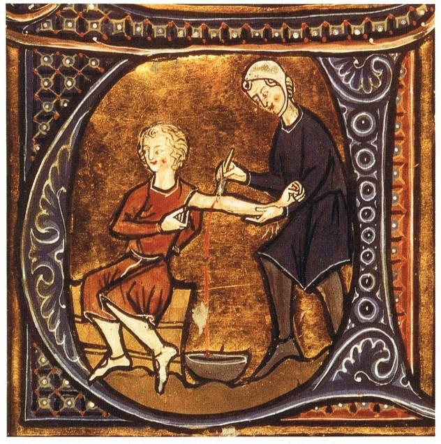 Средневековые врачи больным пускали кровь