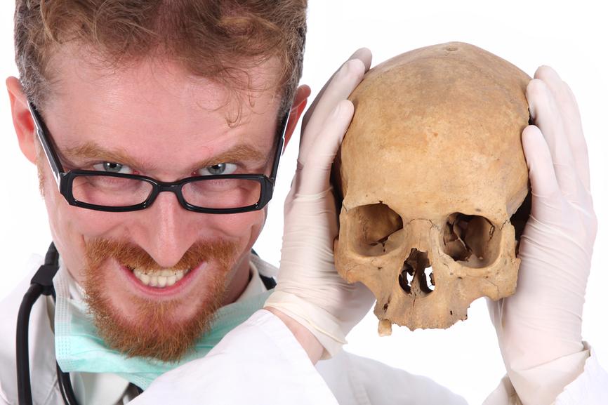 Не будешь слушаться врачей - станешь экспонатом в кабинете биологии