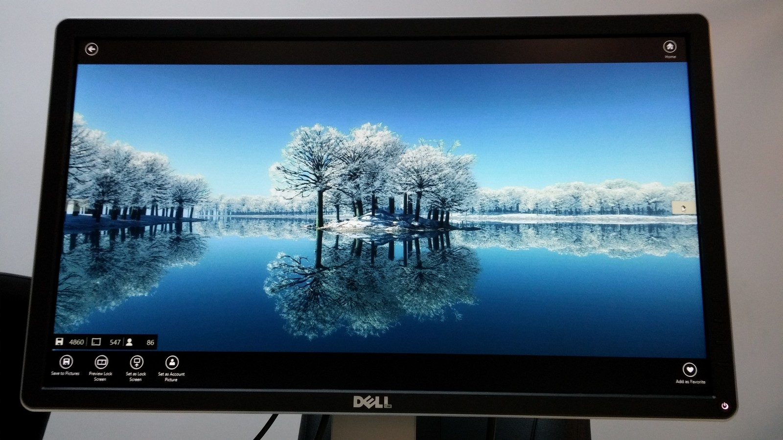 Dell P2214H - пример изображения