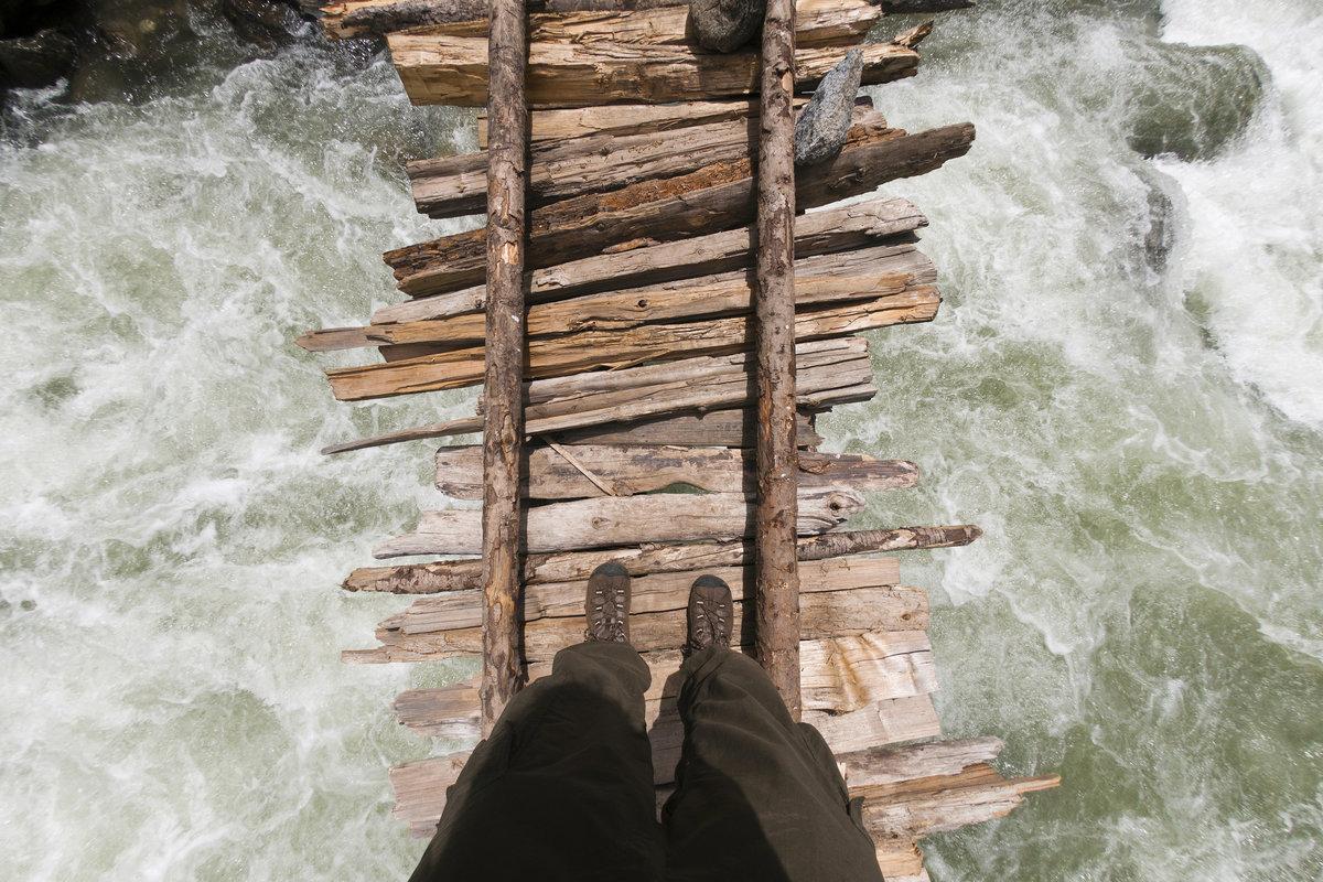Мосты переправы в Гималаях