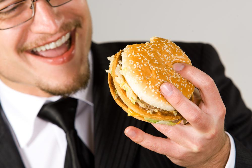 Даже офисные толстяки могут полезно питаться