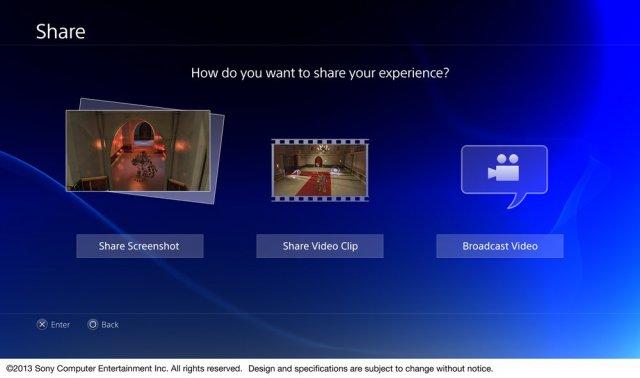 PlayStation 4 - можно будет делиться своими достижениями в играх: скриншотами и видеоклипами
